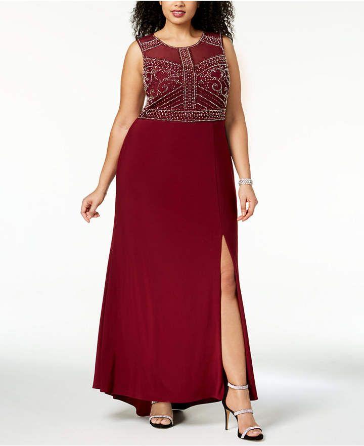83817e905b6e Morgan & Company Trendy Plus Size Beaded Gown - Black 14W in 2019 ...