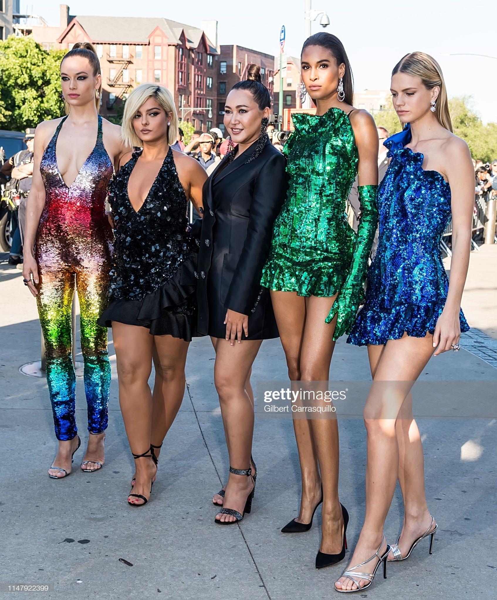 Hannah Ferguson Singer Bebe Rexha Cindy Bruna Fashion Designer Angelys Balek And Nadine Leopold Are Seen Arriving To The 2 Fashion Fashion Design Bebe Rexha