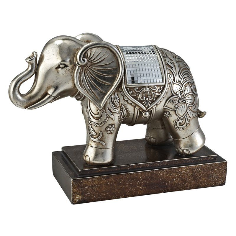 Have to have it. Ore International 10H in. Chrysanthemum Decorative Elephant Statue - $129.32 @hayneedle