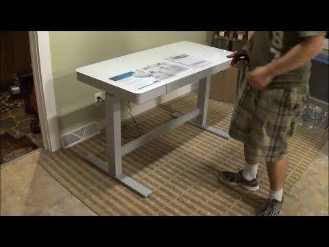 Tresanti Adjustable Height Motorized Standing Desk Costco Sku 1074719 Youtube Motorized Standing Desk Standing Desk Design Adjustable Height Desk