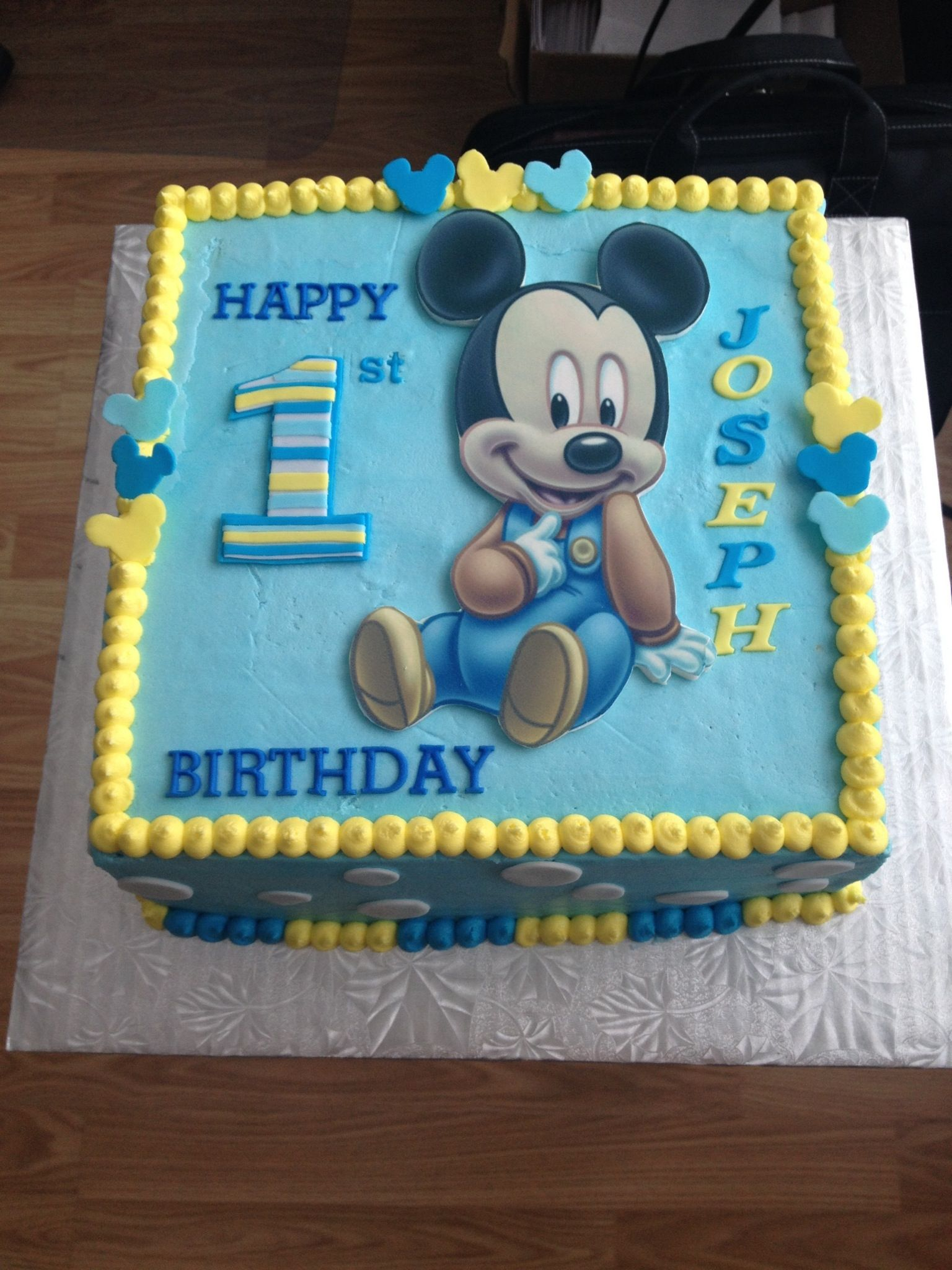 Mickey Mouse 1st Birthday Cake Birthday Party Time Baby Mickey