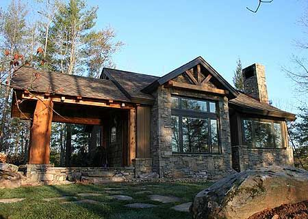 Plan 11529kn Weekend Mountain Escape House Exterior Rustic House Plans Small House