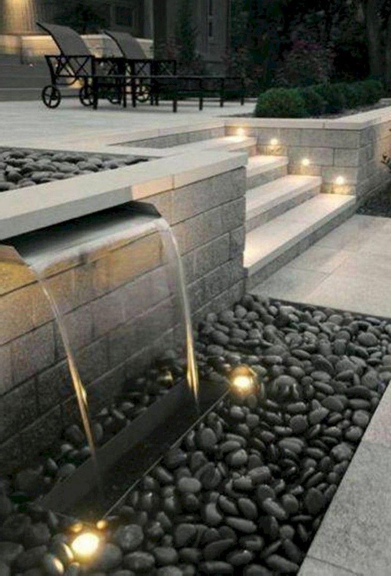Pin On Moderne Garten Modern backyard waterfall ideas