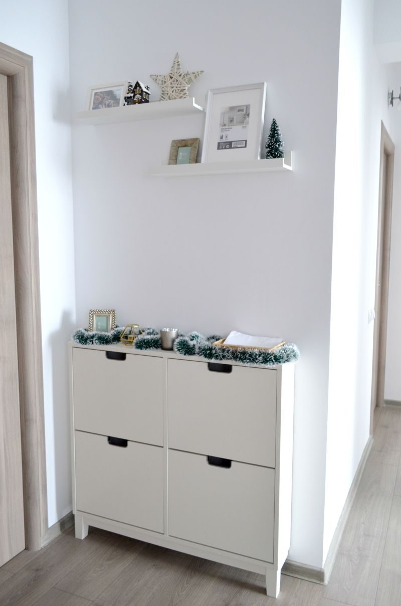 hallway - entryway - minimalist home decor - ikea stall shoe rack