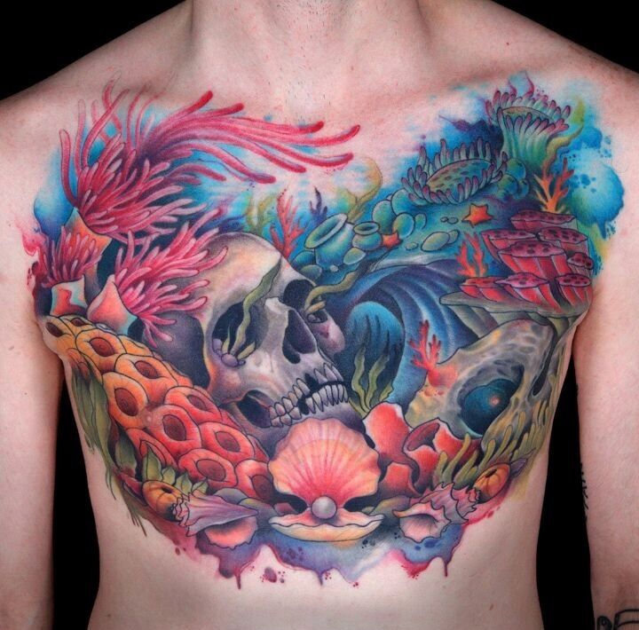 Gians Watercolor Tattoo Ink Master Finale Chest Piece Bocetos