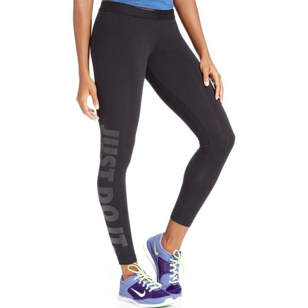 Nike Leg-a-See Dri-fit Just Do It Leggings featuring polyvore,