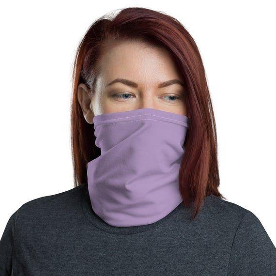 Photo of Reusable Face Mask | Light Purple Face Mask | Face Shield Tube Scarf | Face Mask…