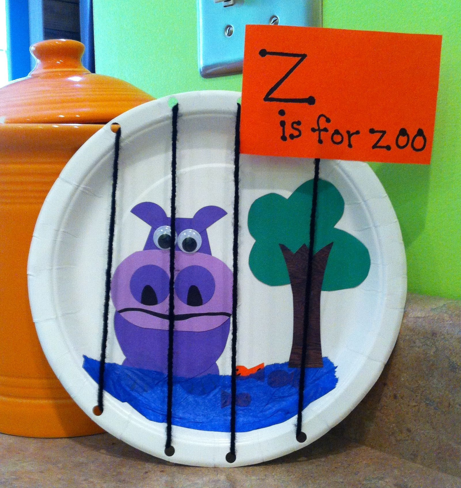Letter Z Craft. Use A Small Box Instead.