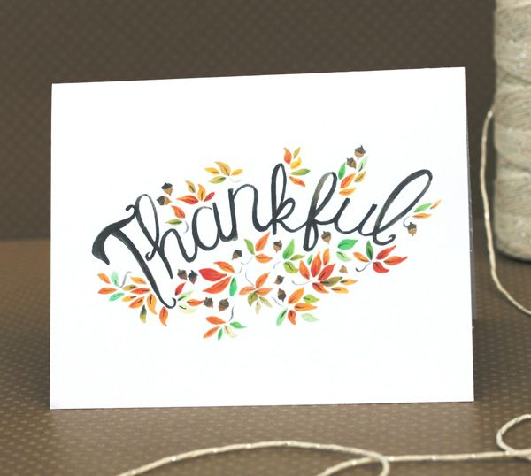 Thankful Card- Free Printable! | Thanksgiving, I am thankful for ...