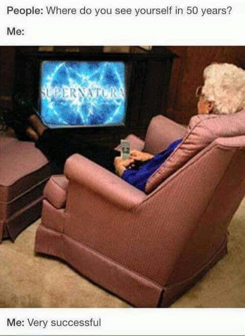 My Grandpa Actually Has That Chair Supernatural Supernatural Memes Sherlock Season