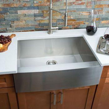 Hahn Chef Series Handmade Medium Single Bowl Farmhouse Sink With