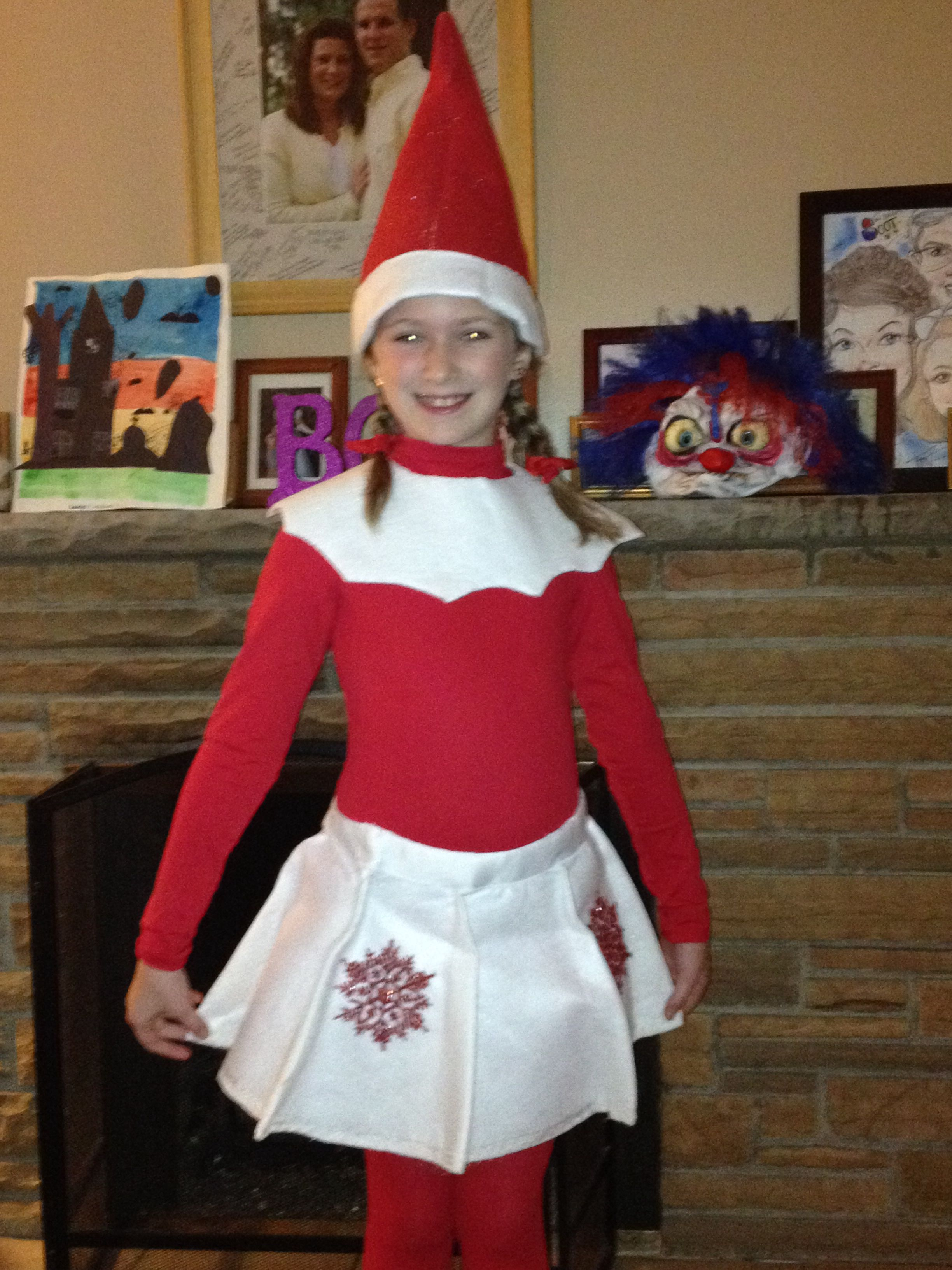 Elf on the Shelf costume made this costume for my