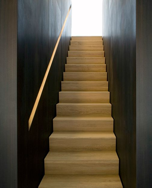 Stunning Staircase And Elevator Design Ideas: Beautiful Staircase With Build-in Handrail By Holzrausch