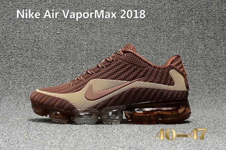 hot sale online c817e b4dc2 Nike Air Vapor MAX 2018 KPU Running Men Brown Beige White 40-47