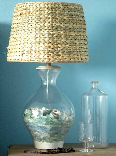 Seaglass Display Decor Ideas Glass Lamp Bright Decor Lamp Bases