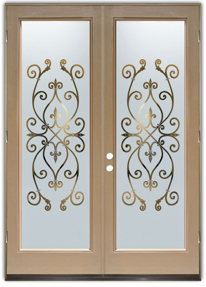 Corazones Negative Frost - Double Entry Doors Hand-crafted sandblast frosted and 3D carved & Corazones Negative Frost - Double Entry Doors Hand-crafted ...