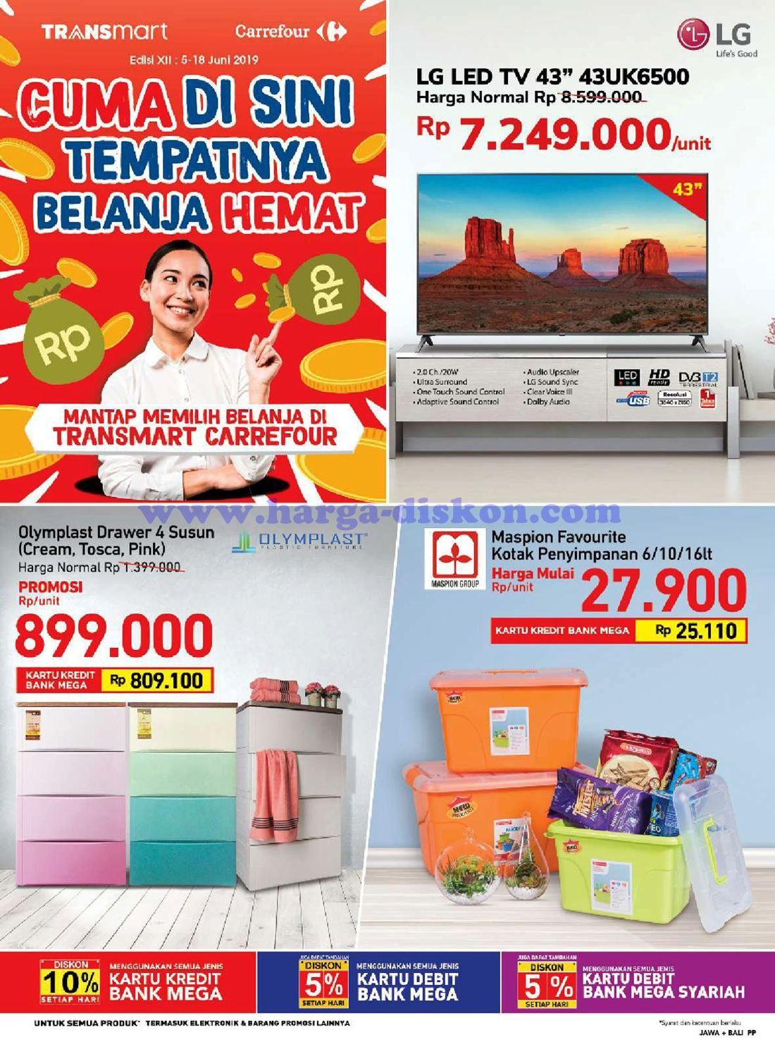 Katalog Promo Transmart Carrefour Terbaru 5 Juni 18 Juni 2019