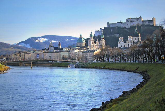 Hohensalzburg Castle in Salzburg, Austria photographed by Rotraud Weiss