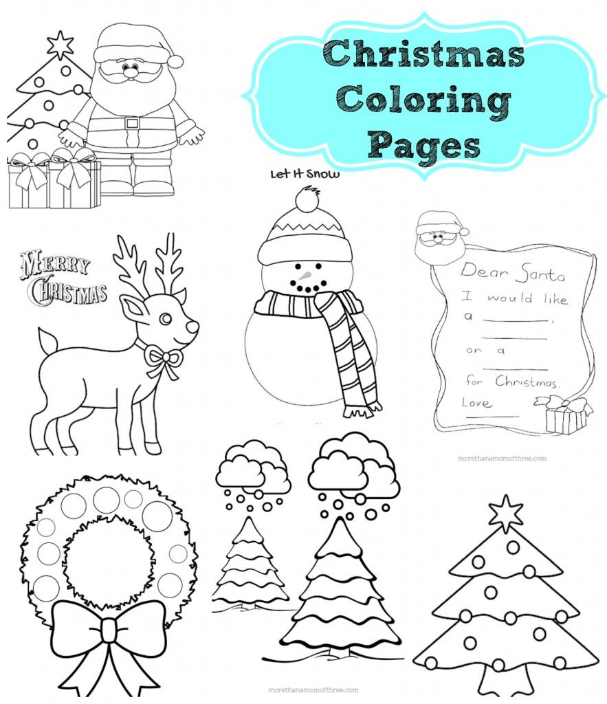7 different christmas coloring pages printables my kids love coloring