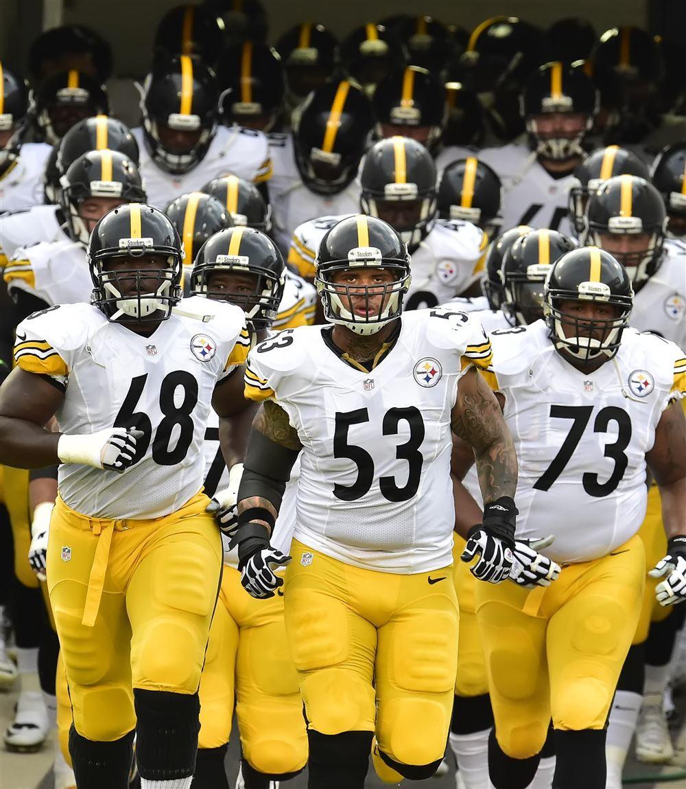 The Steelers take the field. Pittsburgh PostGazette Pgh