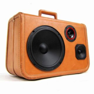 Retro boom box. Seen on fab.com | Suitcase speakers ...