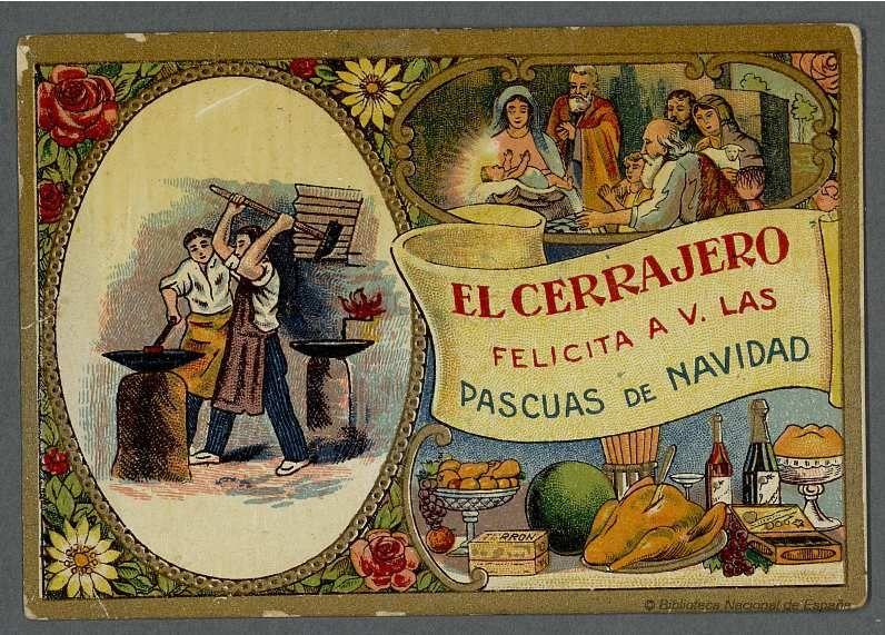 Felicitaciones Antiguas Navidad.Felicitaciones Navidenas Antiguas El Cerrajero 01 Tarjetas