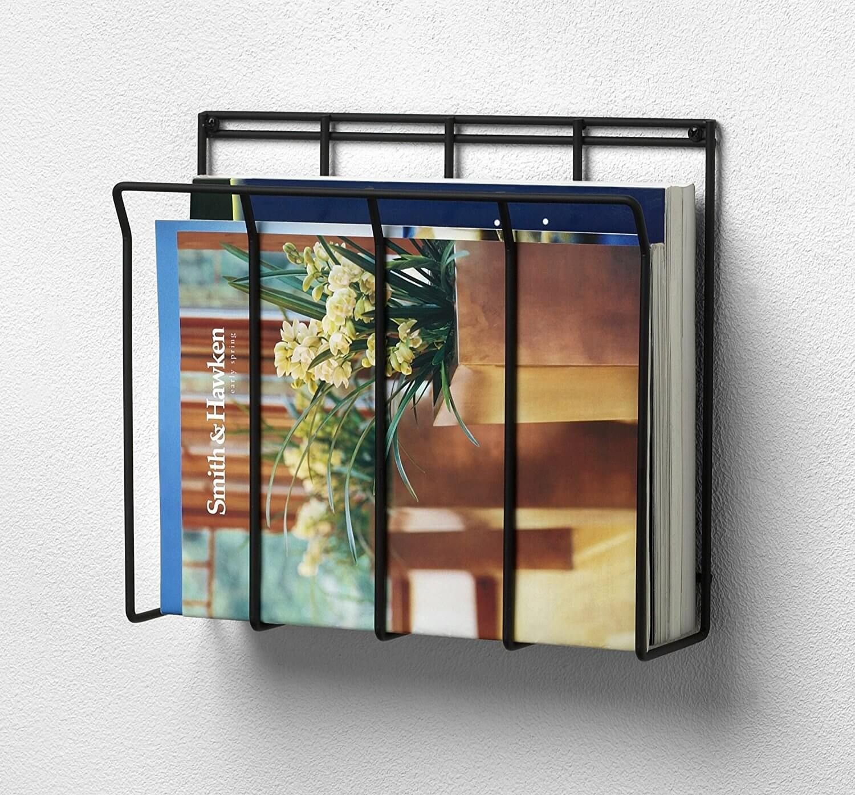 23 Practical And Gorgeous Bathroom Magazine Racks You Will Love Wall Mounted Magazine Rack Magazine Holders Bathroom Magazine Holder