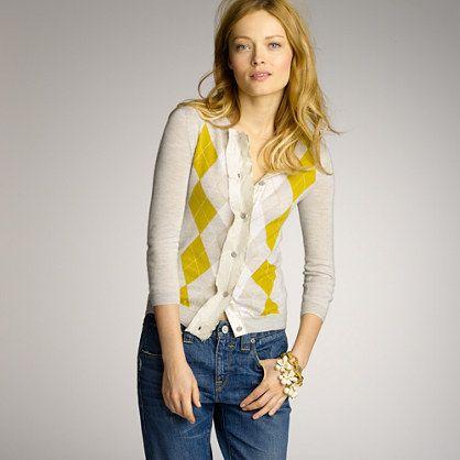 Featherweight cashmere argyle cardigan | Winter Style | Pinterest ...