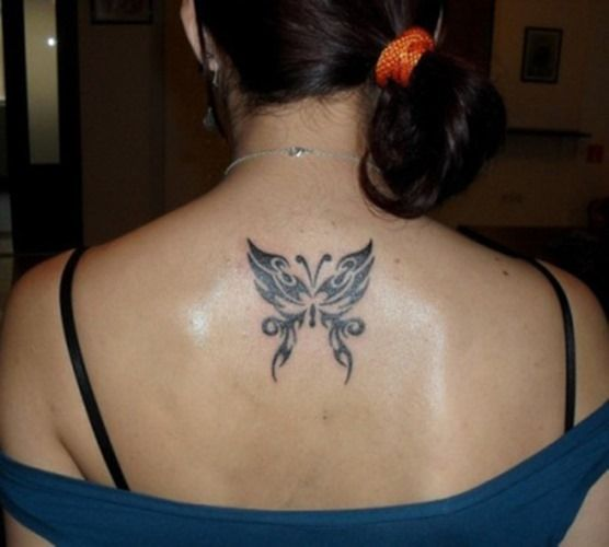 526560434 Upper Back Butterfly Tattoo for Girls | Butterflies | Picture ...