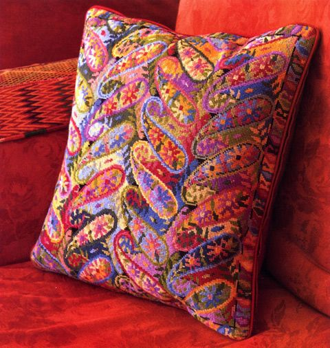 Modern Cross Stitch Pillow Kits : Contemporary Needlepoint Pillow Kits saw this needlepoint pillow in an Ehrman Tapestry ad a ...
