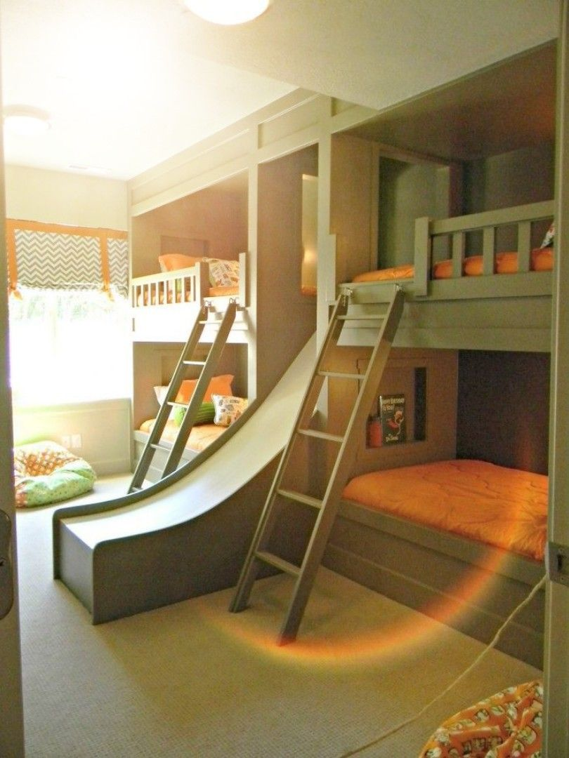 Pin on Bunk bed with slide