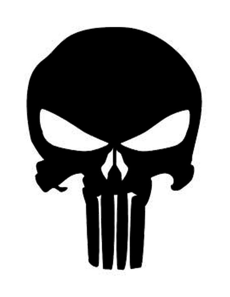 $2 71 - Punisher Skull Iron On - Heat Transfer Vinyl