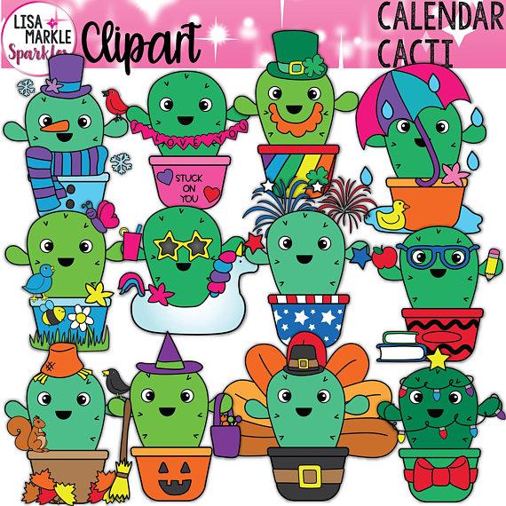 Cute Cactus Clipart Summer Cactus Clipart Fall Cactus Etsy Cactus Clipart Cactus Illustration Clip Art