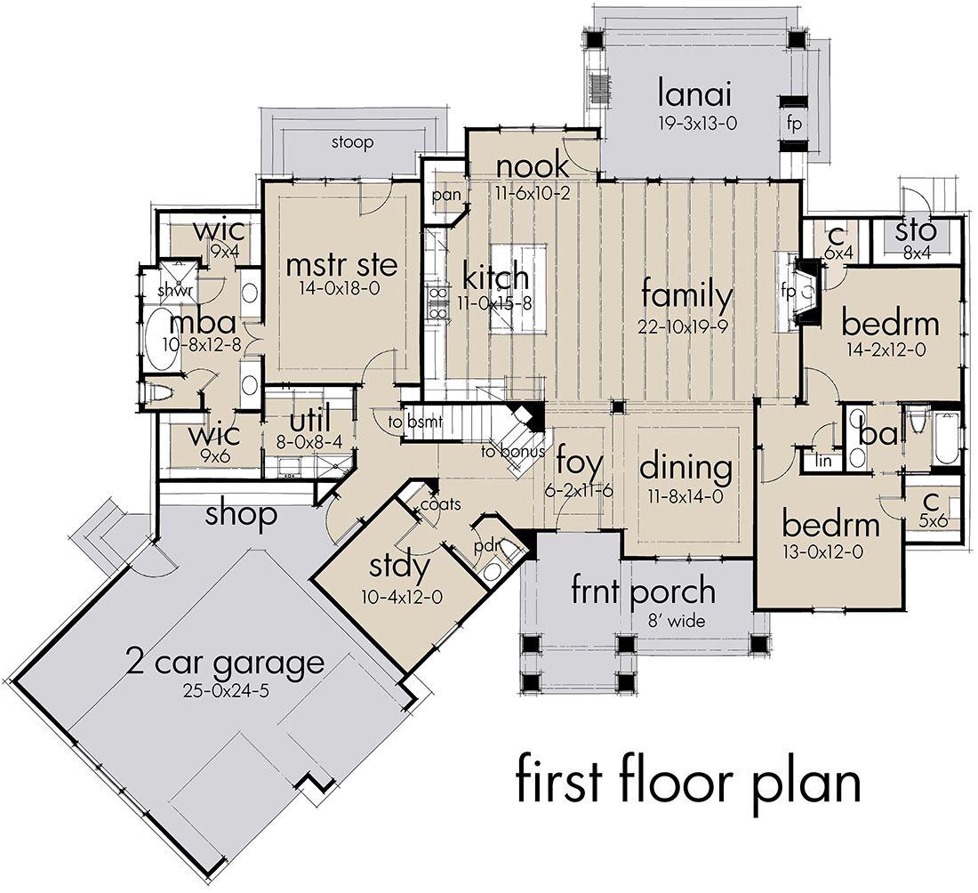 House Plan 9401 Craftsman Plan 2 504 Square Feet 3 4 Bedrooms 2 5 Bathrooms