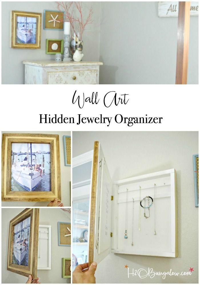 Hanging DIY Hidden Jewelry Organizer Decor styles Tutorials and