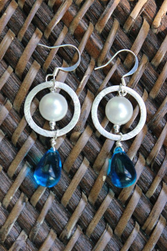 Summer Rain Tear Drop Earrings by SassyPeacocks on Etsy, $12.25