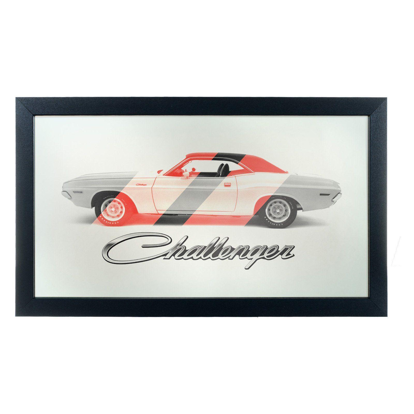 Dodge Challenger Stripes Logo Wall Mirror - DGE1500-STRIPE