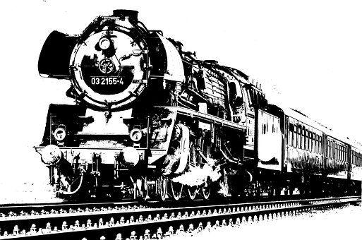 Monochrom Eisenbahn Transport Trains Eisenbahn Bahn și Zug