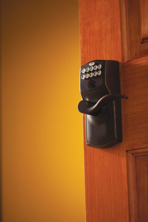 Schlage Electronic Keypad Handlesets Camelot With Accent