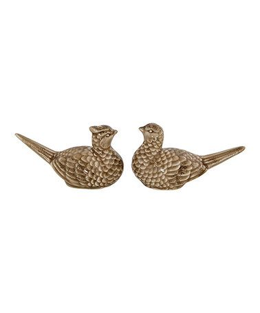 Loving this Ceramic Pheasant Salt & Pepper Shakers - Set of Two on #zulily! #zulilyfinds