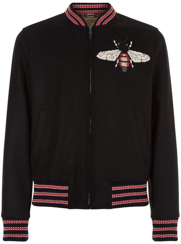 gucci embroidered bumble bee jacket ad bee bees gucci bee