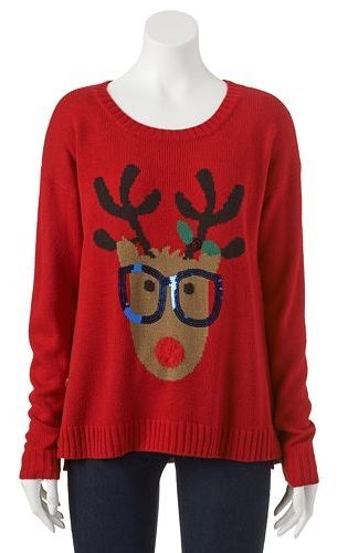 Its Our Time Reindeer Ugly Christmas Sweater Juniors In 2018