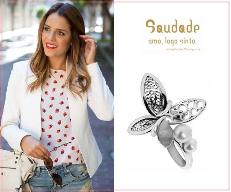 """Véspera de feriado pede um look especial! :)  Anel """"Florbela"""" da SAUDADE"""