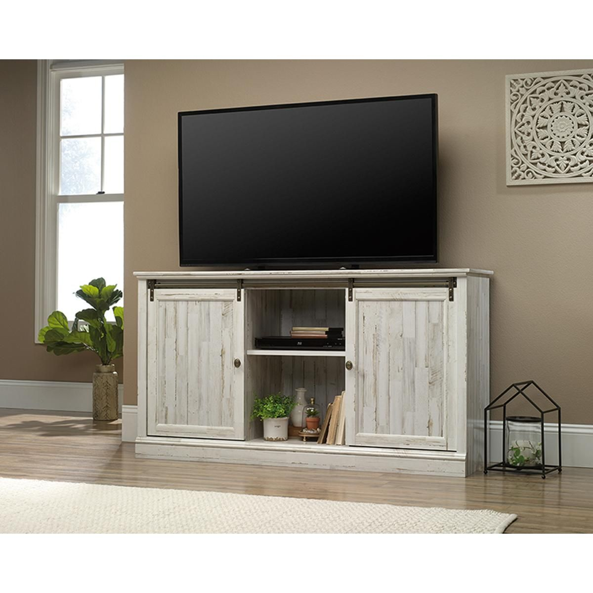 White Plank for TVs up to 60 Sauder Barrister Lane Credenza