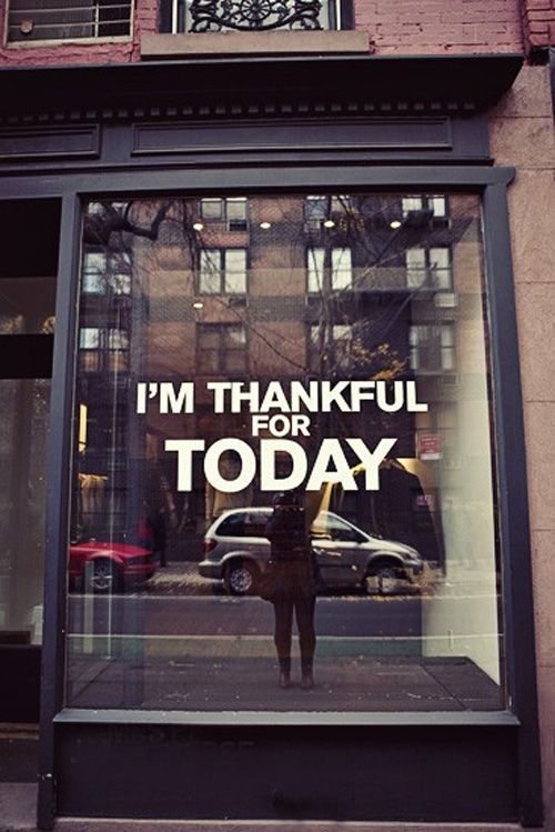 giving thanks - I would love to see messages like this in store windows - we need this