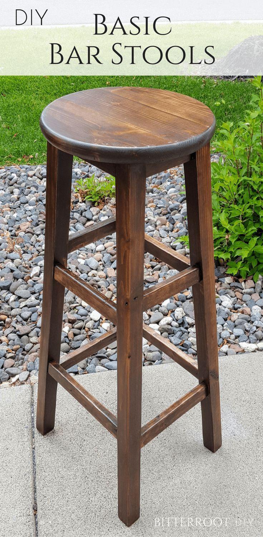 Diy basic bar stools diy bar stools diy stool wooden