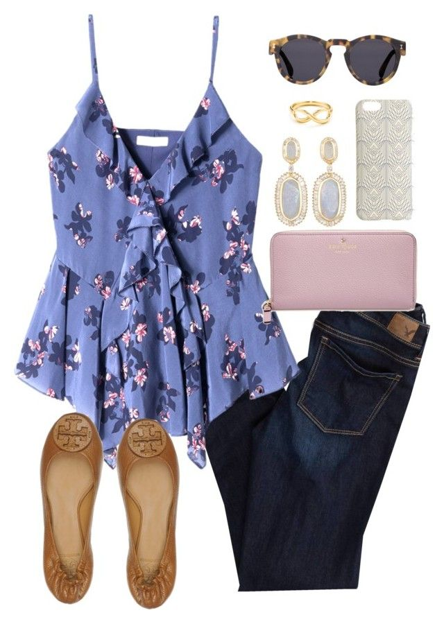 """""""I've had the script songs stuck in my head all day // day 277"""" by littlebitofeverything ❤ liked on Polyvore featuring American Eagle Outfitters, Rebecca Taylor, Tory Burch, Illesteva, Kendra Scott, J.Crew, Kate Spade and Tiffany & Co."""