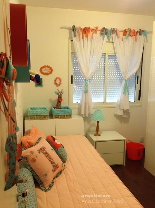 Projeto do quarto da menina, de 3 aninhos.  Vila Madalena, SP. Em parceria com Bruna Lucchesi.