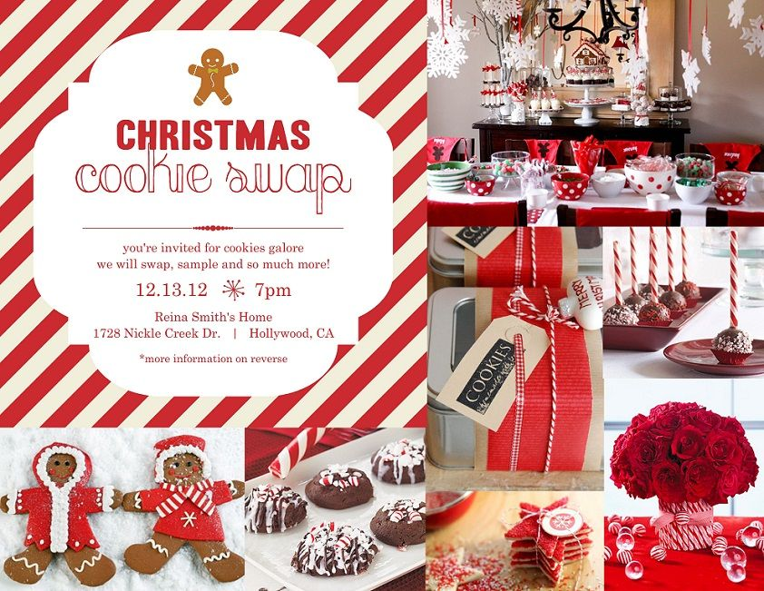 Nice Christmas Cookie Party Ideas Part - 2: Find Sweet Christmas Cookie Swap Invitations U0026 Inspiration At PurpleTrail.  Customize Your Favorite Cookie Swap Invitations For Your Delicious Cookie  Party.