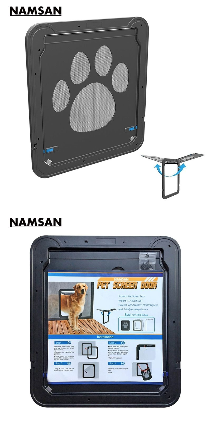 Namsan Magnetic Dog Door Screen Doorlarge Inner Size 12 X 14 Pet